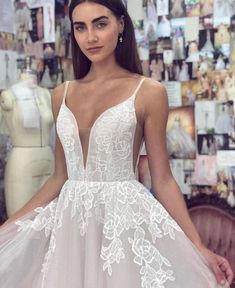 Pearly and flirty 𝙽𝙴𝚆 𝙰𝚁𝚁𝙸𝚅𝙰𝙻 by the one and only . by Couture Bridal Sarasota Blush By Hayley Paige, Dream Dress, Wedding Gowns, Wedding Outfits, Dream Wedding, Wedding Things, Formal Dresses, Lace, Store 3