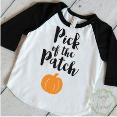1st Halloween Shirt, Pick of the Patch, Halloween Shirt for Boys and Girls, Halloween Baby Outfit, Baby Halloween Clothes for Kids