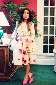 primavera, neon, style, moda, midi skirt, elegante, classic, joryck