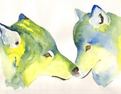 Check out this item in my Etsy shop https://www.etsy.com/uk/listing/225546648/kissing-wolves-is-a-very-colourful
