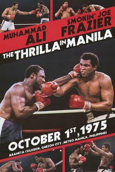 Muhammad Ali Thrilla in Manilla Frazier 24x36 Poster