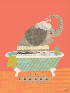 Would like to find bathtub elephants for hall bath....horizontal though.