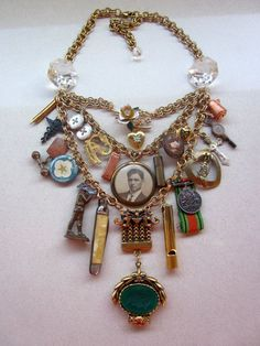 Steampunk Jewelry, Statement  Necklace, Steampunk Necklace, Bib Necklace, Vintage Necklace  - Soldier Boy II. $225.00, via Etsy.