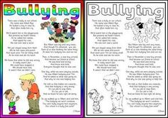 Free printable Anti-Bullying poem.
