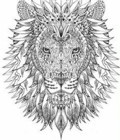 lion with mandala type face
