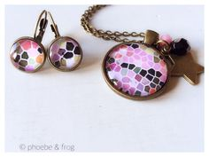 Pink Mosaic Set Perfect Match, Bracelet Watch, Mosaic, Cufflinks, Bracelets, Pink, Accessories, Collection, Bangle Bracelets