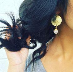 Gold Disc Earrings / JordanLovesJamesJewelry