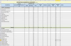 Building Estimation Templates And Downloads Building Costs Home