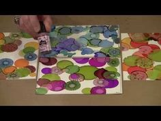 Alcohol Ink On Yupo Paper - Drops! by Joggles.com - YouTube