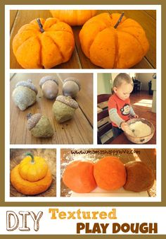 Three different DIY Textured Play Dough creations for a unique tactile experience - silky soft, salty firm, and rough sand play dough. Sensory Activities, Sensory Play, Toddler Activities, Sensory Tubs, Sensory Rooms, Sensory Diet, Autumn Activities For Kids, Crafts For Kids, Sand Play Dough