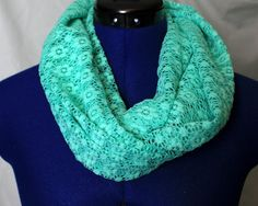 Mint Green Lace Infinity Scarf