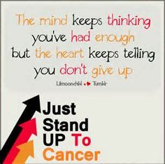 Now have two immediate family members battling cancer. Really puts things in perspective! I Hate Cancer, Stupid Cancer, Beat Cancer, Cancer Cells, Breast Cancer Quotes, Breast Cancer Survivor, Leukemia Quotes, Ovarian Cancer Awareness, Cancer Facts