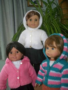 Free Pattern-Ravelry: Hoodie for 18 inch American Girl and Gotz Dolls pattern by Janet Longaphie