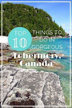 Tobermory, Canada is such a beautiful place. Its gorgeous natural areas, variety of outdoor adventure activities, quaint small town charm… the list goes on. Here are 10 things you need to do when you visit Tobermory! Places To Travel, Places To See, Travel Destinations, Travel Tips, Travel Deals, Banff, Fotos Do Canada, Tobermory Canada, Tobermory Ontario
