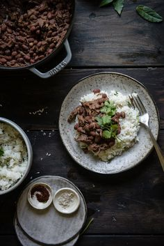 "thanksgiving leftover ""red beans"" & coconut rice 