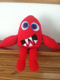 Hand crocheted snuggle monster on Etsy, $22.00