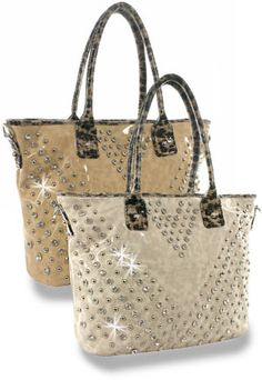 03225e05e6 Rhinestone and Stud Accented Tall Patent Handbag