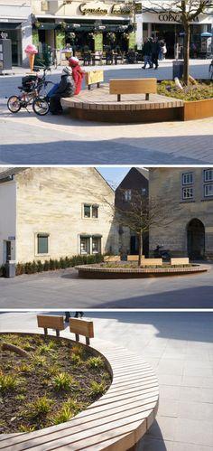 Custom made urban furniture by Grijsen, Valkenburg, Netherlands
