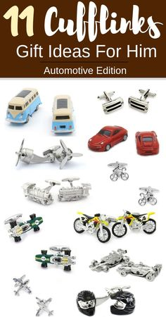 Hunting for the perfect cufflinks gift for your loved ones? These automotive themed cufflinks will tickle the fancy of any car, plane, motorcycle and plane enthusiast! The perfect holiday gift for any automotive fanatic. Unique Birthday Gifts, Birthday Gifts For Boyfriend, Boyfriend Gifts, Gift Guide For Men, Holiday Gift Guide, Unique Gifts For Men, Gifts For Him, Christmas Gifts For Men, Holiday Gifts