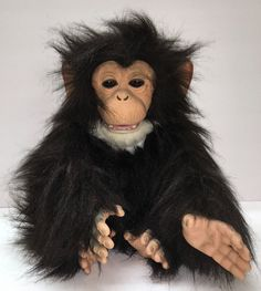 FurReal Monkey Chimp 2008 Hasbro Cuddle WORKS CLEAN EXCELLENT BATTERIES Included #FurRealChimp2008HasbroCuddles