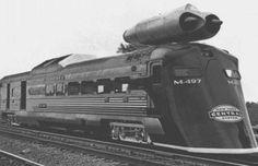 M-497 Black Beetle experimental jet-powered locomotive, 1966.