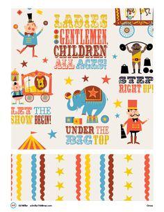 Circus by Ed Miller Design, via Behance Circus Poster, Circus Art, Circus Theme, Circus Illustration, Clown Party, Circus Birthday, Textiles, Kids Prints, Surface Pattern Design