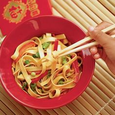 Sesame-soy Noodles    Noodles are a traditional food for Chinese New Year: their length symbolizes longevity.