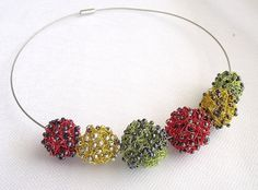 Crochet wire necklace crochet wire jewelry by nefertitijewelry2009, $28.00