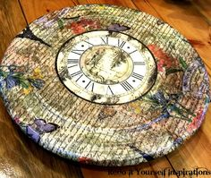 Redo It Yourself Inspirations : Lazy Susan Redo: Decoupage with Napkins