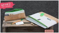 Anleitung Kork Stiftemäppchen, Federtasche und Schutzhülle Card Case, Wallet, Books, Pattern, Lotta, Cards, Products, Scrappy Quilts, Laptop Tote