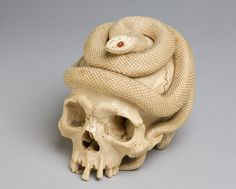 Cup3Tint3: Skull surmounted by a Snake
