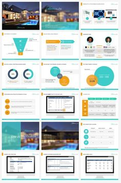 SUPER SLICK, MODERN, FLAT PowerPoint template for travel company presentations. by SlideKingdom