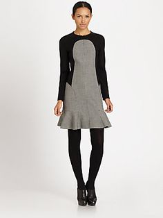 Akris+Punto Panel+Constructed+Dress