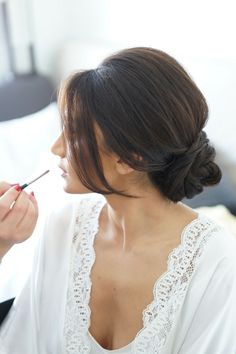 soft, romantic chignon  Photography: SugarLove Weddings