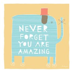 Never Forget You Are Amazing - Fine Art Print (Large) op Etsy, 55,45€