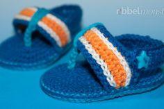Baby Flip Flops häkeln - Anleitung Crochet pattern Baby Flip Flops