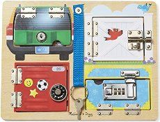 Have you seen busy boards? They are such a great idea and can be customized to your kids. Some like opening and closing things, some love noises and textures and others won't leave locks and doorknobs alone. You can make an entire fun board of activities to keep them busy! This one is from KaylaDanelle. …