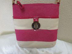 Tommy Hilfiger XBody Handbag 6930198 653 Pink Beige Gold Retail Price $65.00 #TommyHilfiger #MessengerCrossBody