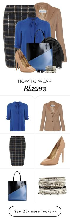 """Black, Blue & Camel"" by brendariley-1 on Polyvore featuring MaxMara, Dorothy Perkins, maurices, Marni, Sam Edelman, Simon Frank and 2b bebe"