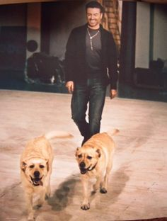George and his dogs!