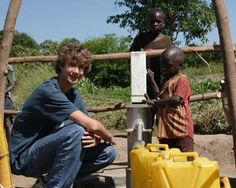 Ryan Hreljac and African children by well.Ryan Hreljac In 1998, 6-year-old Ryan Hreljac was shocked to learn that children in Africa had to walk many kilometers every day just to fetch water. Ryan decided he needed to build a well for a village in Africa. By doing household chores and public speaking on clean water issues, Ryan's first well was built in 1999 at the Angolo Primary School in a northern Ugandan village. Read more...