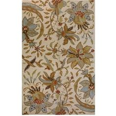 Found it at Wayfair - Bashian Rugs Valencia Raja Ivory Rug Valencia, Tan Rug, Floral Area Rugs, Carpet Design, Living Room Carpet, Traditional Rugs, Carpet Runner, Throw Rugs, Room Rugs