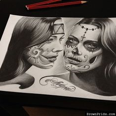 Chicano Art - Aztec and Day of the Dead Arte