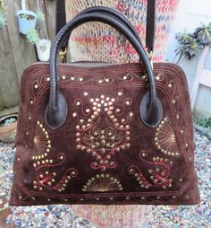 d4df93a93e Vintage Ethnic Tribal Dome Satchel Bag Purse Handbag by Cucarachaz  Embroidered Bag