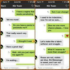 Late night kik sexting
