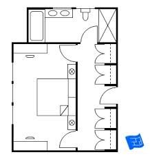 Master Bedroom Layout master bedroom floor plan - souped up hotel room layout. | master
