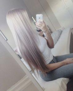 Long silver hair, platinum blonde hair, white hair, ash blonde hair.. summer…
