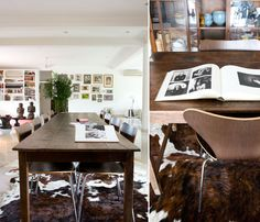 I like the idea of putting a cow skin run in the dining room, and using it without any other western decor