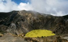 Green Crater Lake, Costa Rica   Nature's color palette is astounding.