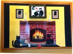 President's Day fireplace bulletin board  (February 2013)